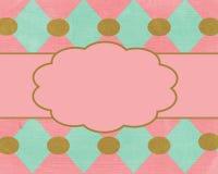 Modelo rosado del fondo de la tarjeta de Brown Foto de archivo libre de regalías