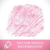 Modelo rosado del fondo del bosquejo del lápiz. Imagen de archivo libre de regalías