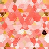 Modelo rosado geométrico abstracto Fondo lindo del triángulo del mosaico Imagen de archivo libre de regalías