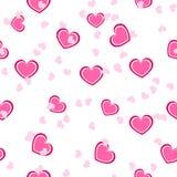 Modelo rosado inconsútil del corazón Fotografía de archivo libre de regalías