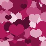 Modelo rosado inconsútil para Valentine Day Imagen de archivo