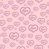 Modelo rosado inconsútil para Valentine Day Fotos de archivo libres de regalías
