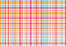 Modelo rosado y anaranjado de la tela escocesa Imagen de archivo libre de regalías