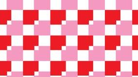 Modelo rosado y rojo simple del bloque Foto de archivo