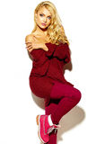 modelo rubio dulce en ropa casual Imagenes de archivo