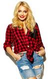 modelo rubio dulce en ropa casual Fotografía de archivo libre de regalías