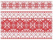 Modelo ruso del bordado stock de ilustración