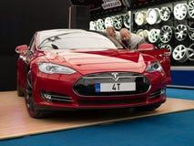 Modelo S de Tesla Foto de archivo libre de regalías