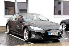 Modelo S de Tesla Foto de Stock Royalty Free