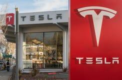 Modelo S de Tesla Fotos de archivo libres de regalías