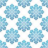 Modelo semless del invierno con el azul Imagen de archivo