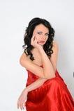 Modelo sensual con maquillaje profesional fotografía de archivo libre de regalías