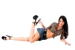 Modelo 'sexy' do encanto Imagens de Stock Royalty Free