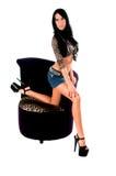 Modelo 'sexy' do encanto fotografia de stock royalty free