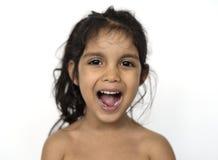 Modelo Shoot Kid Children de la gente del estudio Fotos de archivo libres de regalías