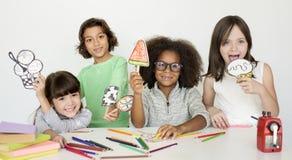 Modelo Shoot Kid Children dos povos do estúdio Fotografia de Stock Royalty Free