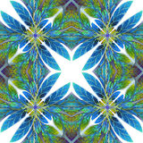 Modelo simétrico de las hojas Usted puede utilizarlo para la invitación Fotos de archivo libres de regalías