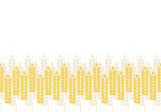Modelo simple abstracto de los oídos del trigo, ornamento del vector Imágenes de archivo libres de regalías