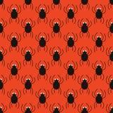 Modelo simple de las arañas de Halloween Fondo inconsútil lindo Imagen de archivo libre de regalías