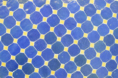 Modelo simple del mosaico de Maroccan en azul y Imagenes de archivo