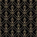 Modelo simple inconsútil de la moda del art déco Repetición del linebackground geométrico mínimo de lujo moderno Ejemplo retro y  stock de ilustración