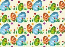 Modelo simple incons?til del vector con los huevos ornamentales Día de fiesta de Pascua para imprimir en tela, papel para scrapbo ilustración del vector