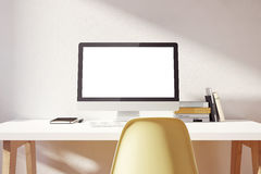 Modelo simples claro do espaço de trabalho ilustração royalty free