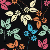 Modelo sin fin elegante con el ramo floral colorido stock de ilustración