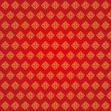 Modelo sin fin propicio del chino de los nudos Rojo, oro libre illustration
