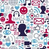 Modelo social de los iconos de la red de los media Imagen de archivo