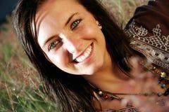 Modelo sonriente Fotografía de archivo libre de regalías