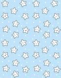 Modelo sonriente del vector de las estrellas del blanco lindo Cielo azul de Staryy ilustración del vector