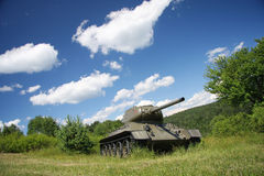 Modelo soviético t34 del tanque. Segunda Guerra Mundial. Foto de archivo