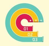 Modelo suave moderno del diseño del círculo de color ilustración del vector