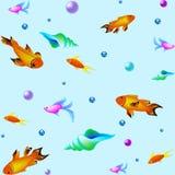 Modelo subacuático del vector con los pescados Textura del mar Fotografía de archivo libre de regalías