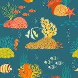 Modelo subacuático de la vida Imagenes de archivo