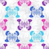 Modelo sucio con las mariposas coloridas Imagen de archivo