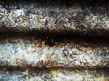 Modelo sucio de la pared del metal Imagen de archivo