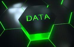 Modelo superficial futurista abstracto del hexágono con los rayos ligeros Imágenes de archivo libres de regalías