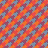 Modelo superficial inconsútil con el ornamento del houndstooth Impresión clásica de la tela de la moda Fondo geométrico comprobad Imágenes de archivo libres de regalías