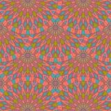 Modelo superficial inconsútil con las mandalas antiguas coloridas Puede utilizar Imagenes de archivo