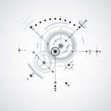 Modelo técnico, fundo digital w do vetor preto e branco Imagem de Stock Royalty Free