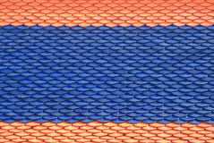 Modelo tailandés de los azulejos de azotea de la arcilla Fotografía de archivo