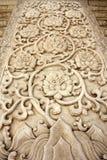 Modelo tallado del chino tradicional en el mármol Fotos de archivo libres de regalías