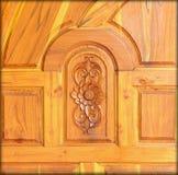 Modelo tallado en la madera, elemento de la decoración Foto de archivo libre de regalías