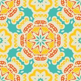 Modelo tejado abstracto festivo étnico colorido stock de ilustración