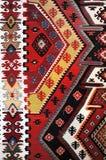 Modelo tejido mano del kilim Foto de archivo