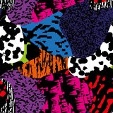 Modelo texturizado, colorido moderno inconsútil del grunge Fondo con el ornamento gráfico de las combinaciones multicoloras EPS10 libre illustration