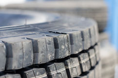 Modelo texturizado de un nuevo fondo del neumático del camión Foto de archivo