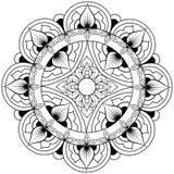 Modelo ?tnico decorativo de la mandala P?gina antiesfuerza del libro de colorear para los adultos Forma inusual de la flor Vector ilustración del vector